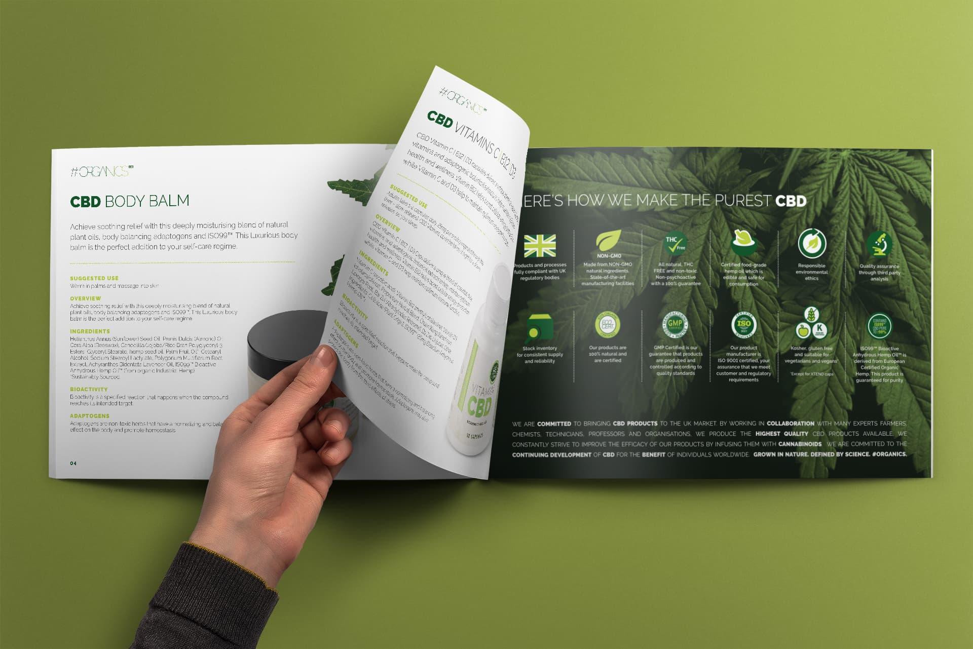 Hashtag Organics Brochure Design