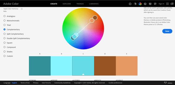 Adobe colour wheel min