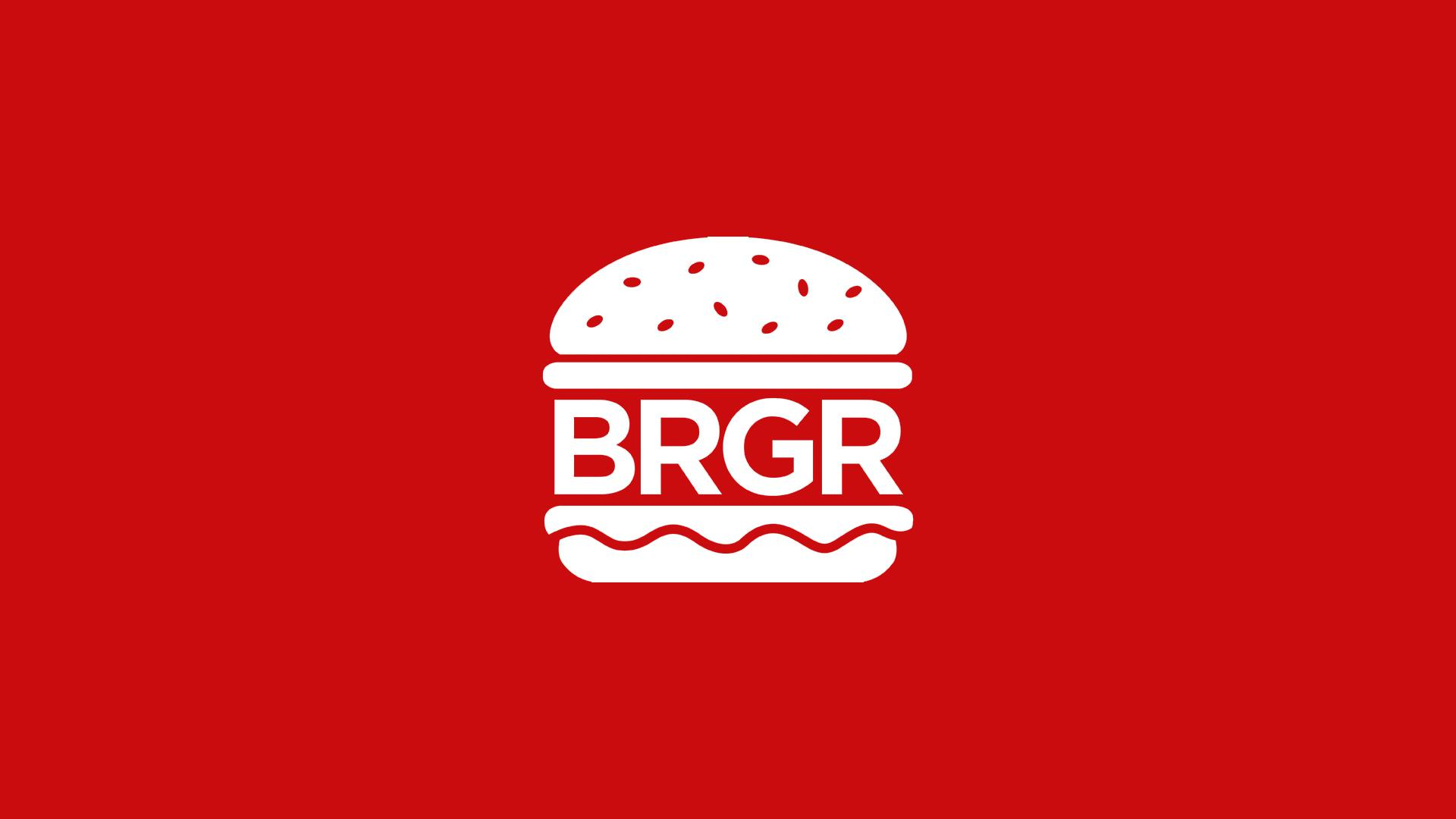 BRGR Logo White on Red
