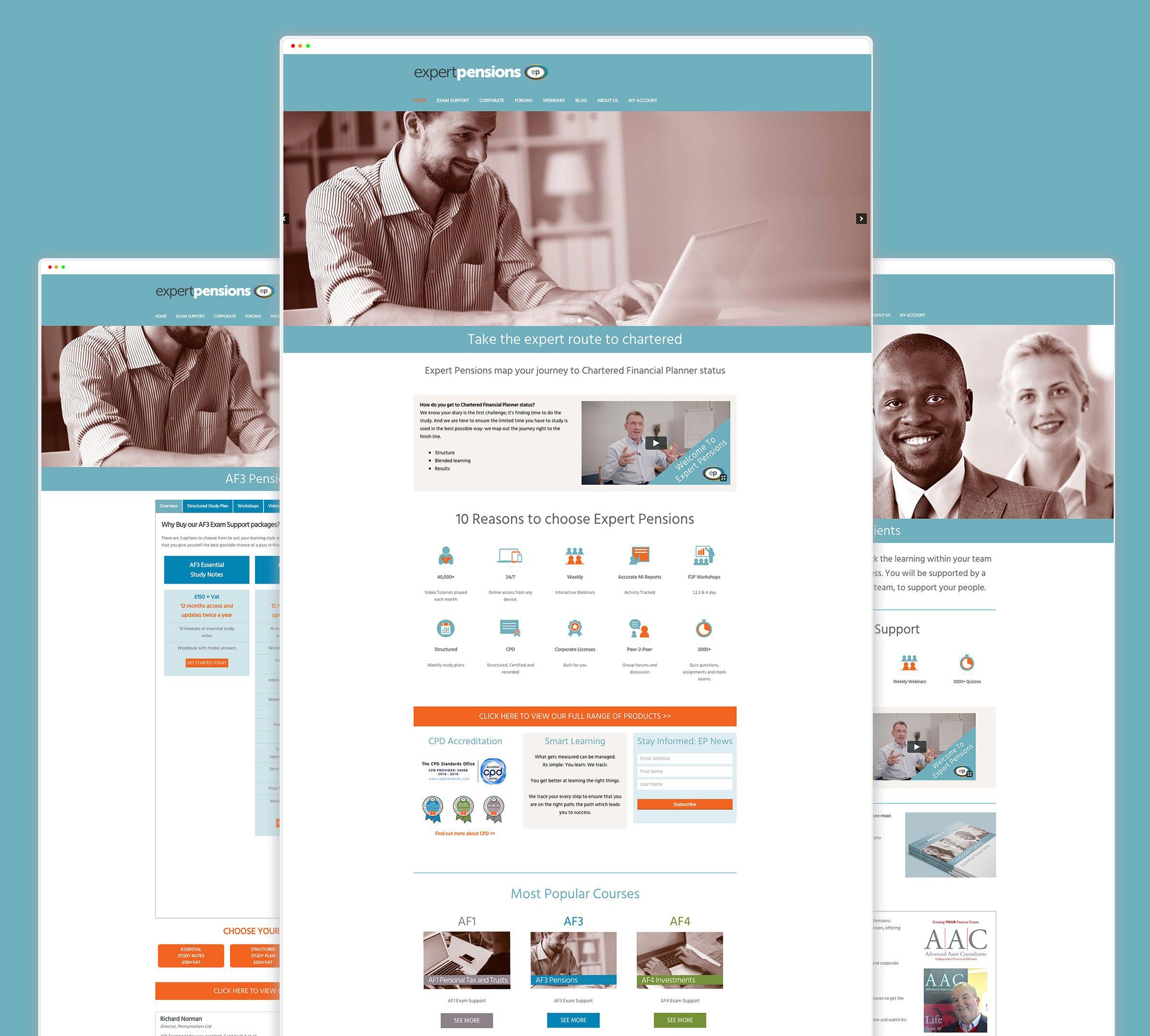 Expert Pensions Web Design