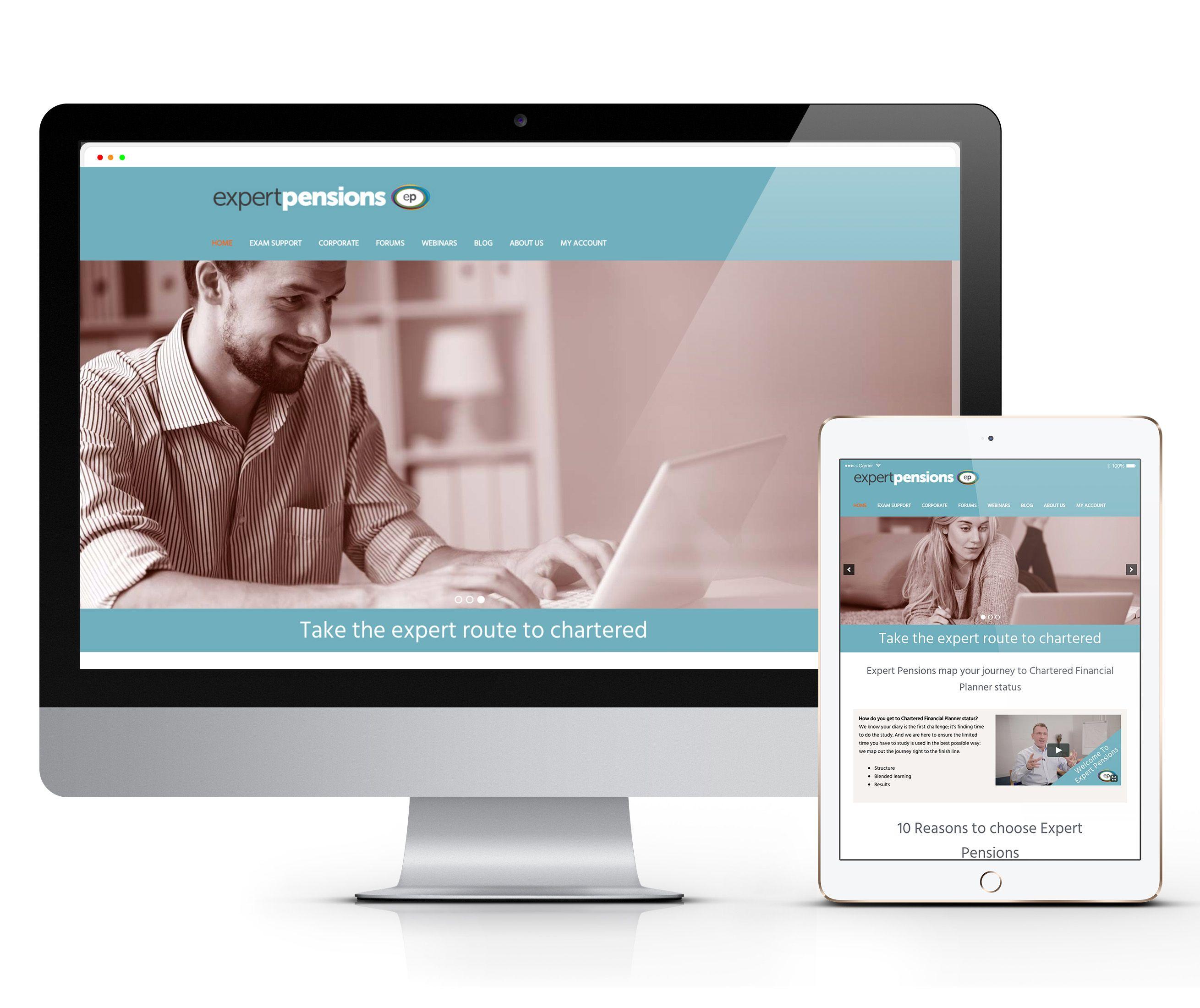 Expert Pensions Website on Desktop and Tablet
