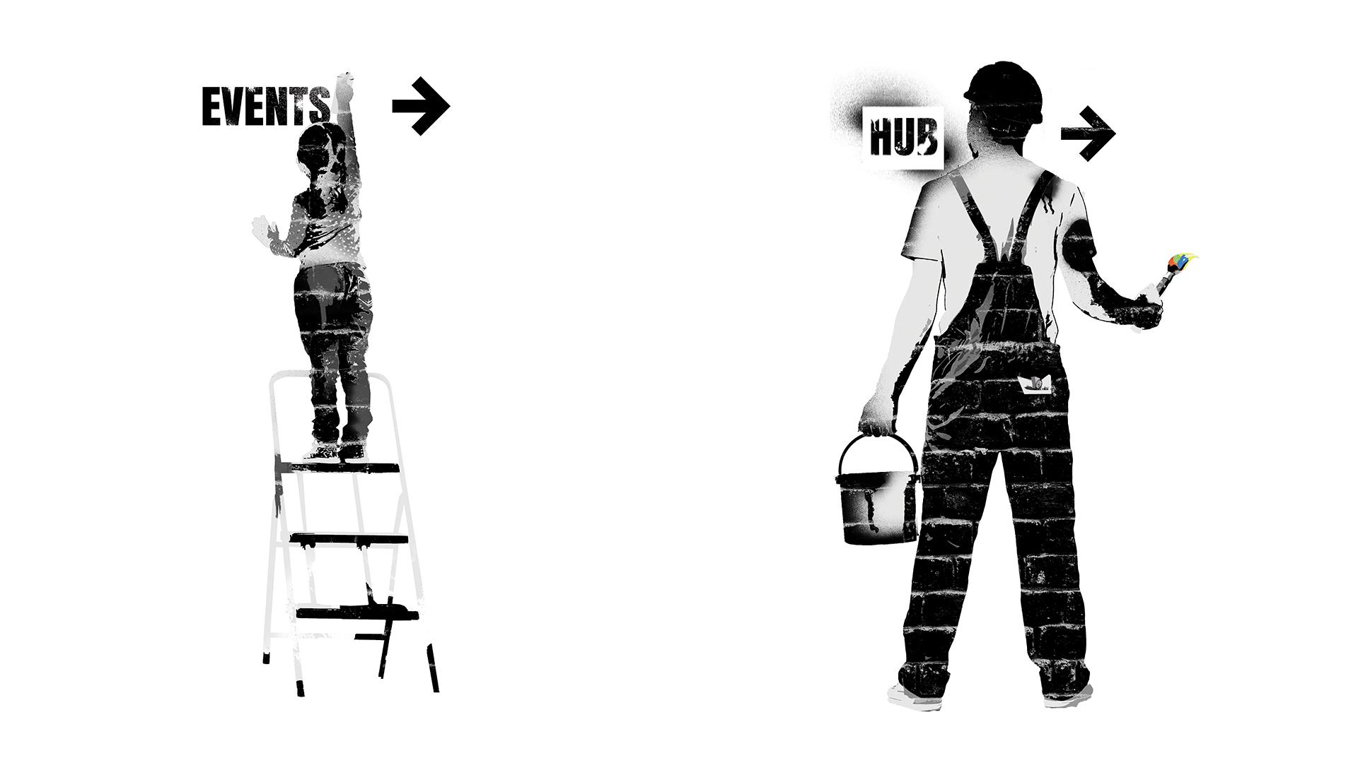 Entrepreneurial Spark Banksy Graffiti Mural