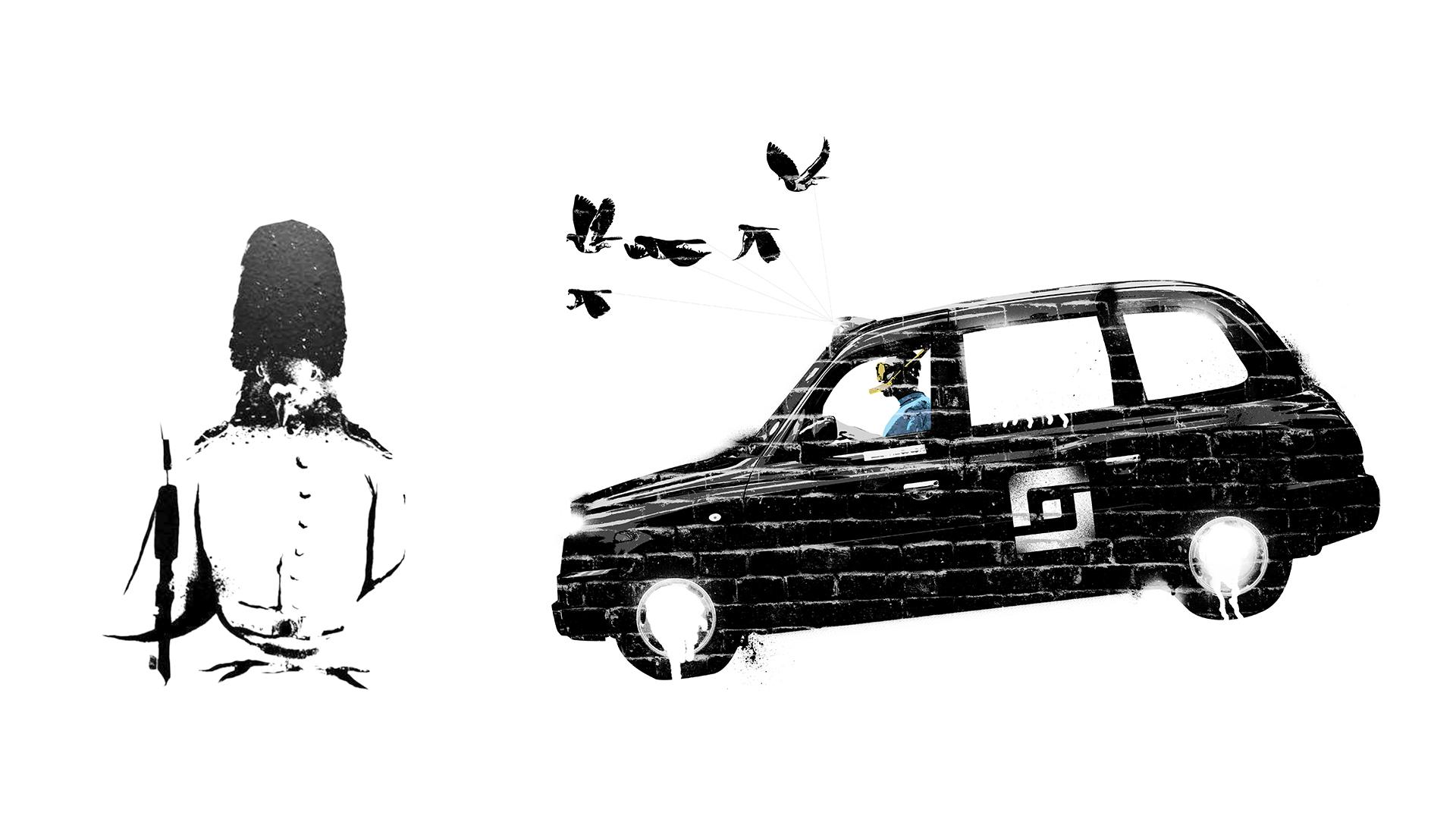 Entrepreneurial Spark Mural Design Pigeon Taxi
