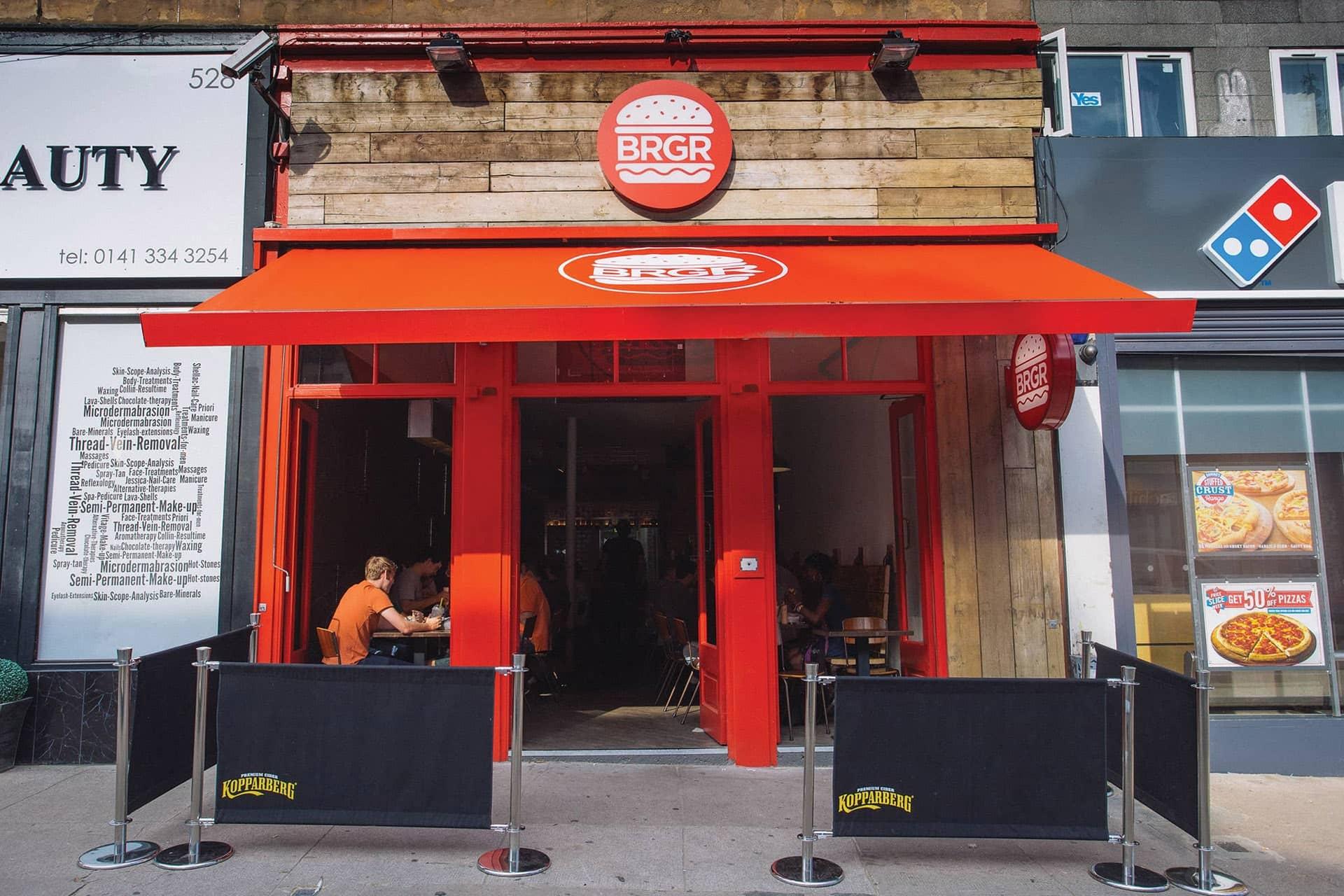 BRGR Glasgow Shop Signage