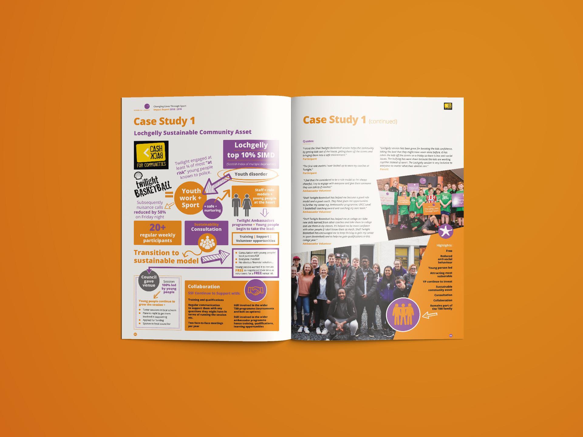 Scottish Sport Futures Annual Report Design