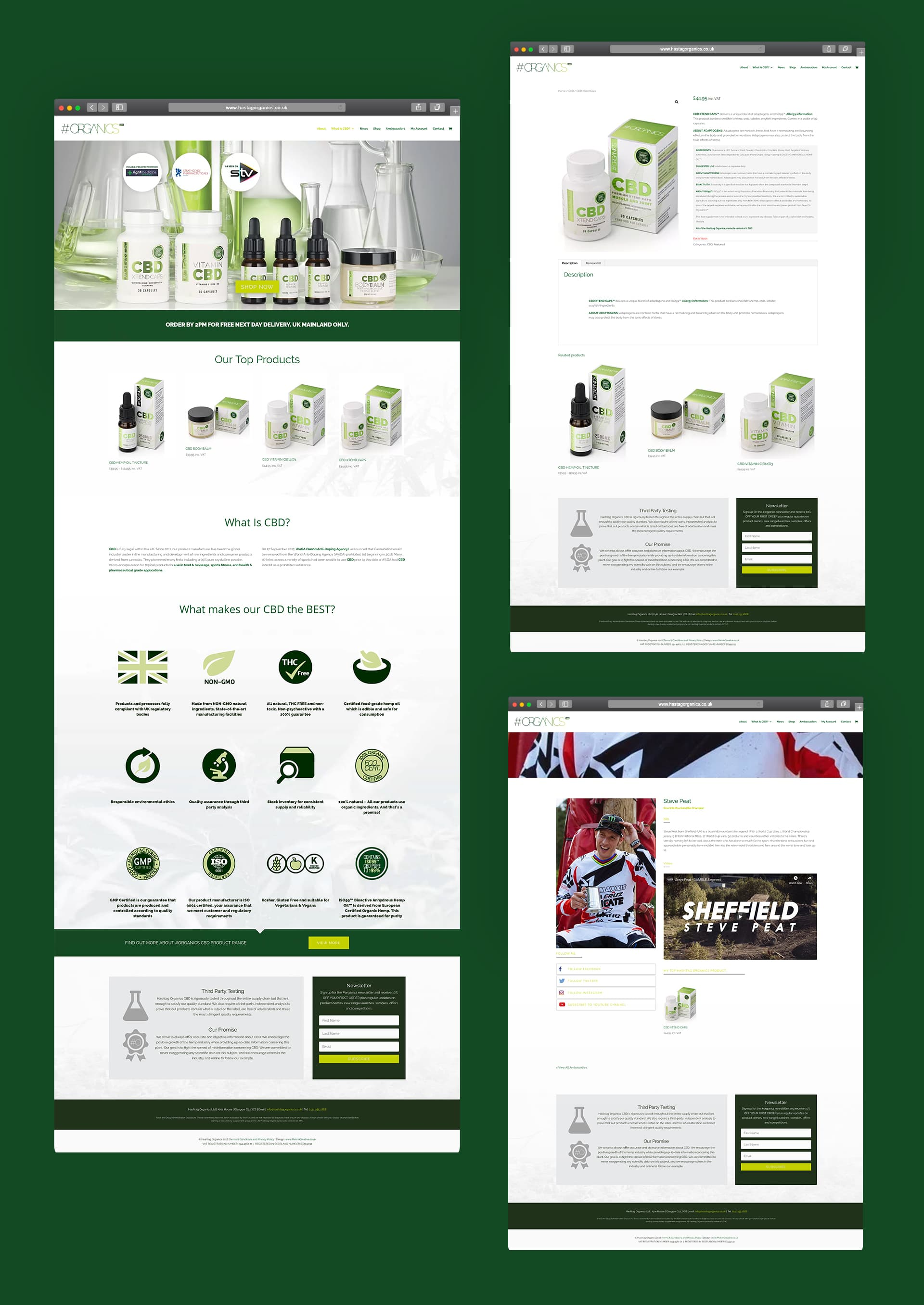Hashtag Organics E-Commerce Website design and development